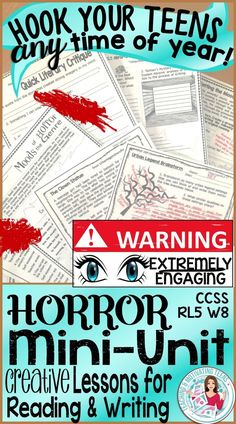 Get students hooked and keep them engaged using the theme of horror. With these highly engaging lessons, they will practice their reading analysis and narrative writing skills - and ask for more!