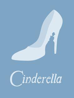 Cinderella, Minimalist Disney poster, by Citron Vert Walt Disney, Disney Love, Disney Magic, Disney Art, Disney Travel, Disney Minimalista, Poster Minimalista, Disney And Dreamworks, Disney Pixar