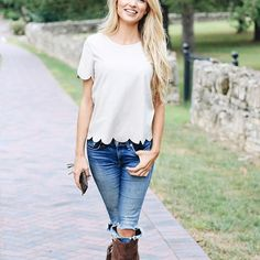 I'll always be a boots and jeans kind of girl!! This top is available on @chuckandelle website!! #liketkit #fashion #fashionblog #style