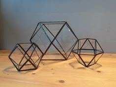 Lampion - Czarne Trójkąty i Kwadraty - GlassWoodMe - Lampiony