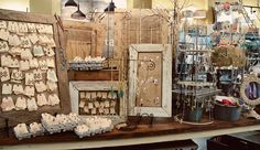 Several great display ideas on this board: http://www.pinterest.com/vintiquities/craft-booth-displays/ Jewelry display