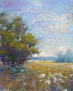 Summer Landscape with wildflowers Original por KarenMargulisFineArt