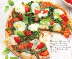 garlic, spinach & mozzarella