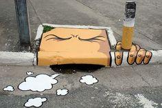 Interesting street art.