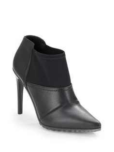 TIBI Kirby Perforated Leather Ankle Boots. #tibi #shoes #boots