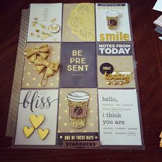 Pocket Letter by Brianna Holifield Pocket Pal, Pocket Cards, Atc Cards, Journal Cards, Pocket Scrapbooking, Scrapbook Paper, Scrapbooking Layouts, Project Life, Coffee Cards