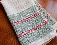 Your place to buy and sell all things handmade Dish Towels, Tea Towels, Loom Weaving, Hand Weaving, Bright White Background, Natural Background, Weaving Projects, Bold Stripes, Cotton Linen
