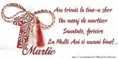 1 Martie Am trimis la tine-n zbor 8 Martie, Emoticon, Merry, Place Card Holders, Spring, Flowers, Romania, Diy, Frases