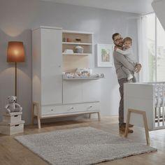 """Van Asten Babysuperstore on Instagram: """"Kleine babykamer? Deze leuke 2-in-1 kast en commode is dan ideaal. Wanneer je kindje ouder is, kun je de commode uitnemen en hier plaats…"""" Future Baby, Decoration, Loft, Bed, Furniture, Tips, Instagram, Changing Station, Hobby Lobby Bedroom"""