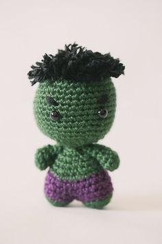 Hulk Amigurumi Doll inspired by Marvel Comics // Marvel