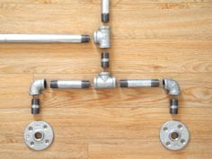 Pipe clothing rack diy. Get 10' pipe cut and threaded at hardware store