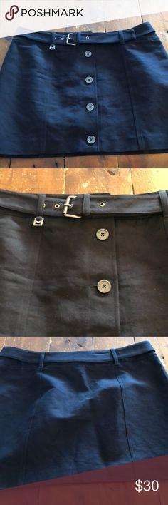 Michael Kors Skirt Navy Blue.  Adorable buttons up the front Michael Kors Skirts