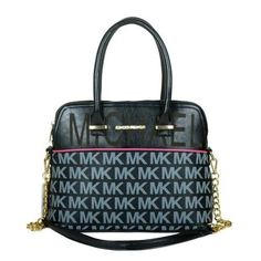 Michael Kors Bedford Signature Large Black Totes