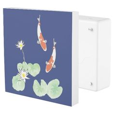 Koi Pond Blue Outlet Cover #homedesign #homedecor
