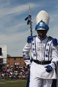 Black College Drum Majors | Drum Major - Hampton University Marching Force Band