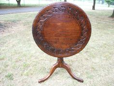 Farouk Palace Primitive Hand Made Late 1700's Country French Tilt Top Table | eBay