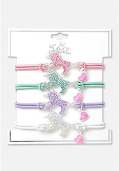 From BFF bracelets, bangles & charm bracelets - we've got trendy girls' bracelets for all occasions we know she'll love. Bff Bracelets, Bff Necklaces, Cute Necklace, Bracelet Set, Jewelry Wall, Cute Jewelry, Disney Coffee Mugs, Justice Accessories, Unicorn Fashion