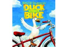 DUCK ON A BIKE by David Shannon. Caldecott Honor winner David Shannon applies his wonderful off-beat humor to the story of a duck who decides to try riding a bike--and loves it! Another young, funny book perfect for reading aloud. 6 Traits Of Writing, Writing Lessons, Teaching Writing, Writing Ideas, Teaching Ideas, Narrative Writing, Library Lessons, Duck On A Bike, David Shannon
