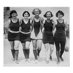 Vintage Bathing Suits, Vintage Swim, Custom Posters, Vintage Posters, 1920s Swimsuit, Tankini, Bathing Beauties, Clothes Horse, Swimsuits