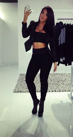 All black everything! Sexy Outfits, Cool Outfits, Fashion Outfits, Womens Fashion, Fashion Trends, Casual Outfits, Pretty Outfits, Fashion Styles, Trendy Fashion