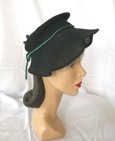 1940's Vintage Sally Victor Couture Hat From by MyVintageHatShop, $183.00