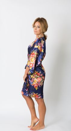 Browse Pomp & Valor's cute bridesmaid robes, bridal robes, & bridal party robes in lace & floral styles. Bridal Party Robes, Bridesmaid Robes, Floral Style, High Neck Dress, Navy, Collection, Dresses, Fashion, Hale Navy