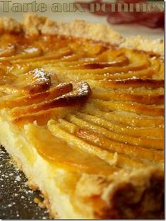 tarte aux pommes alsacienne Tart Recipes, Easy Cake Recipes, Snack Recipes, Fancy Desserts, Apple Desserts, Mousse Au Chocolat Torte, Scones Ingredients, Cinnamon Cream Cheeses, Pumpkin Spice Cupcakes