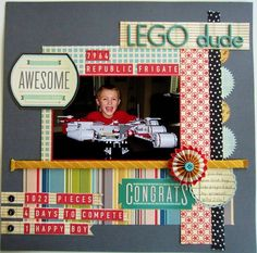 #papercraft #Scrapbook #layout    Lego dude