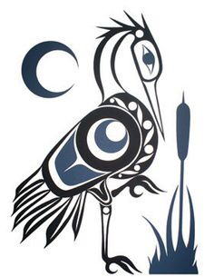 I love this kind of art Native art bird theme 1 best * Haida Kunst, Inuit Kunst, Haida Art, Inuit Art, Arte Tribal, Tribal Art, Art Haïda, Kunst Der Aborigines, Posca Art