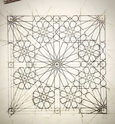 Sacred Geometry Patterns, Geometry Art, Islamic Tiles, Islamic Wall Art, Pattern Sketch, Pattern Art, Motifs Islamiques, Compass Drawing, Islamic Art Pattern