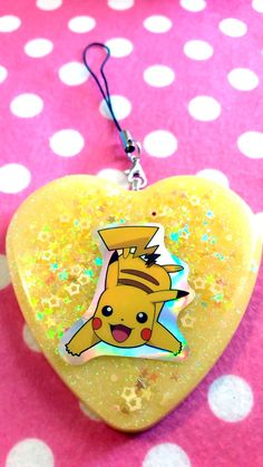Pokemon Pikachu Resin Charm by Veroable on Etsy