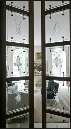 Beautifully etched doors ~ Cynthia Reccord