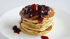 Lemon Mascarpone Pancakes, Drizzle, GIF, mascarpone, pancakes, lemon, breakfast, recipe, brunch, blueberries, raspberries, strawberries, compote, sweet, recipes, breakfast recipes, brunch recipes, pancake recipe, pancake recipes,