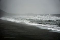 'Black and White' by Xenya Iceland Places To Visit, Places To See, Black Sand, Black And White, Interactive Map, Sand Beach, Water, Outdoor, Gripe Water