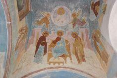 Музей фресок Дионисия - Разрез по северному продольному нефу. Вид на юг - «Весь бе в нижних и вышних...» (Акафист. Икос 8)