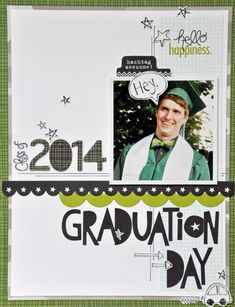 Graduation Day - Scrapbook.com - Bella Blvd's Max collection works for boys and men!