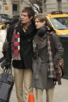 """Chuck Bass and Eric van der Woodsen in the episode """"The Serena Also Rises""""......"""