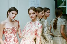 backstage at valentino haute couture, spring 2012