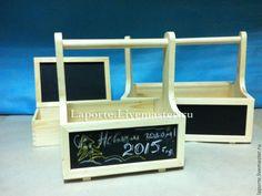 Деревянный ящик с грифельной доской средний (заготовка) - грифельная доска