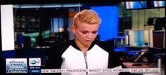 Marta Kuligowska w TVN24 -  pikowana bluza dostępna w GrandeSaldi.pl  ♥