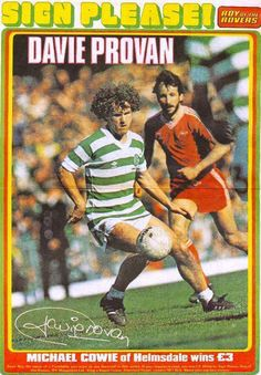 Davie Provan of Celtic in Post Viral Fatigue, Help The Poor, Nottingham Forest, Celtic Fc, Great Friends, Football Shirts, Little Sisters, Glasgow, Victorious