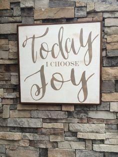 Today I choose Joy Framed wood sign * Christian decor * Christian gift * inspirational * Jesus Christ *