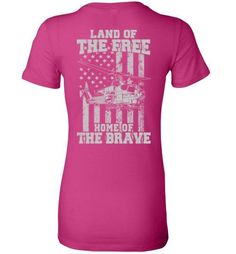Home of the Brave - AH-1W Super Cobra - Ladies Fitted Tee