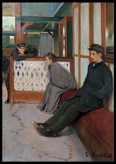 Santiago Rusiñol. Interior del Moulin de la Galette. 1891