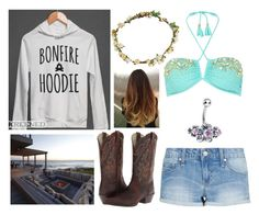 """""""Beach Bonfire"""" by jwpixie ❤ liked on Polyvore featuring Bundle MacLaren Millinery, Pacha, MANGO and Ariat"""