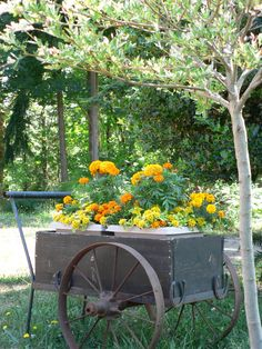 French Flower Cart filled with the couples wedding flowers for guests to take home following a brunch on the day after the wedding.