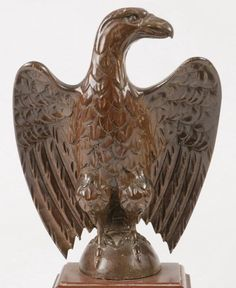 CARVED MAHOGANY EAGLE - Price Estimate: $800 - $1200
