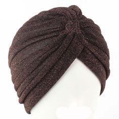 3a7e7e34491 Women Bling Silver Gold Knot Twist Turban Headbands Cap - Autumn Winter  Warm Casual Streetwear Headwear Hats