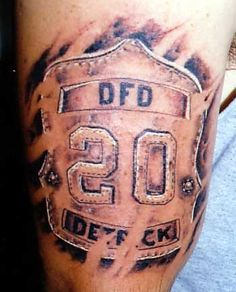 Firefighter Tattoos | Design Art
