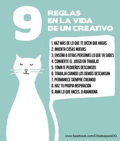 9 Reglas de la Vida de un #Creativo